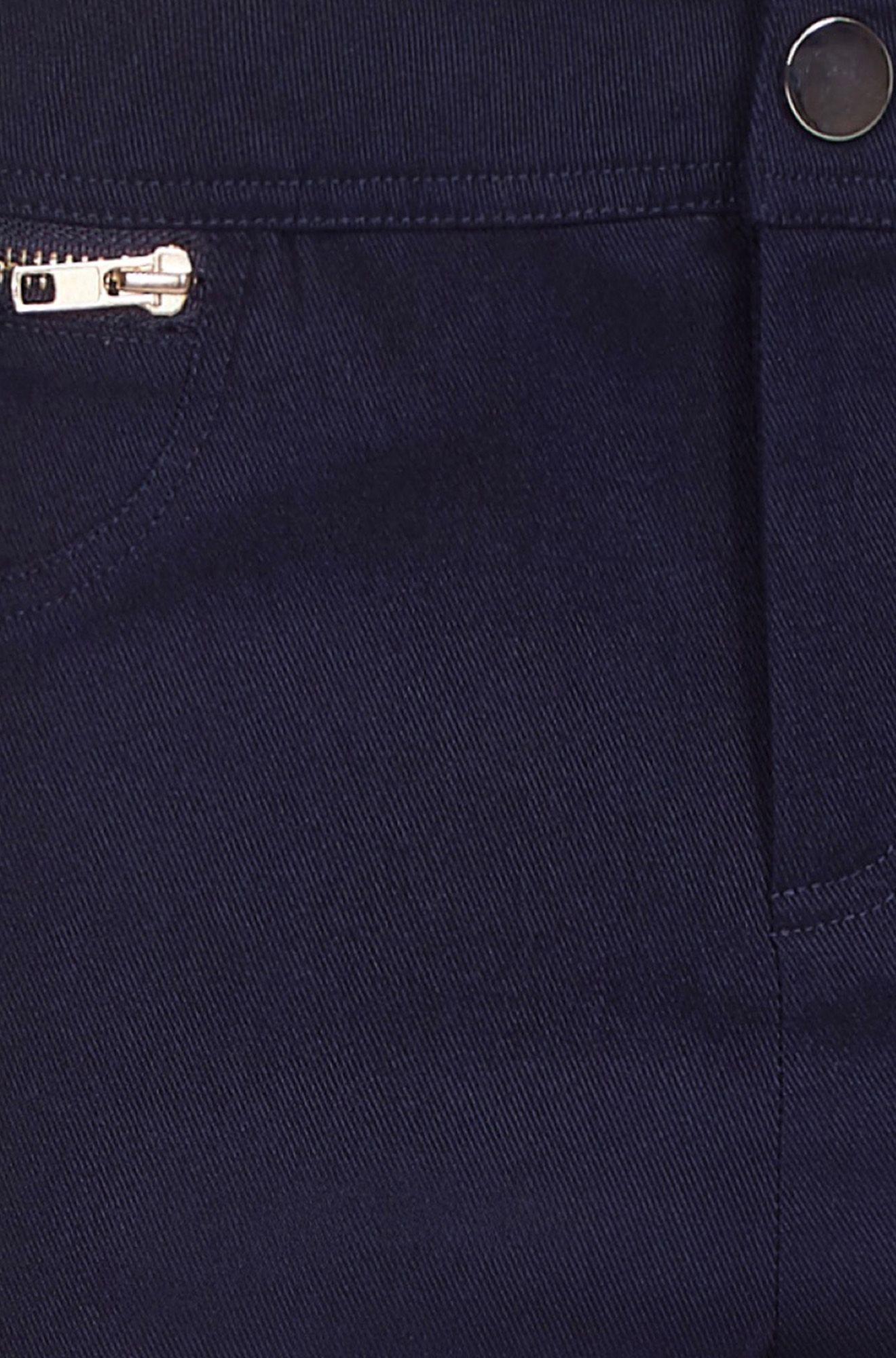 Zip Pocket Navy Jegging