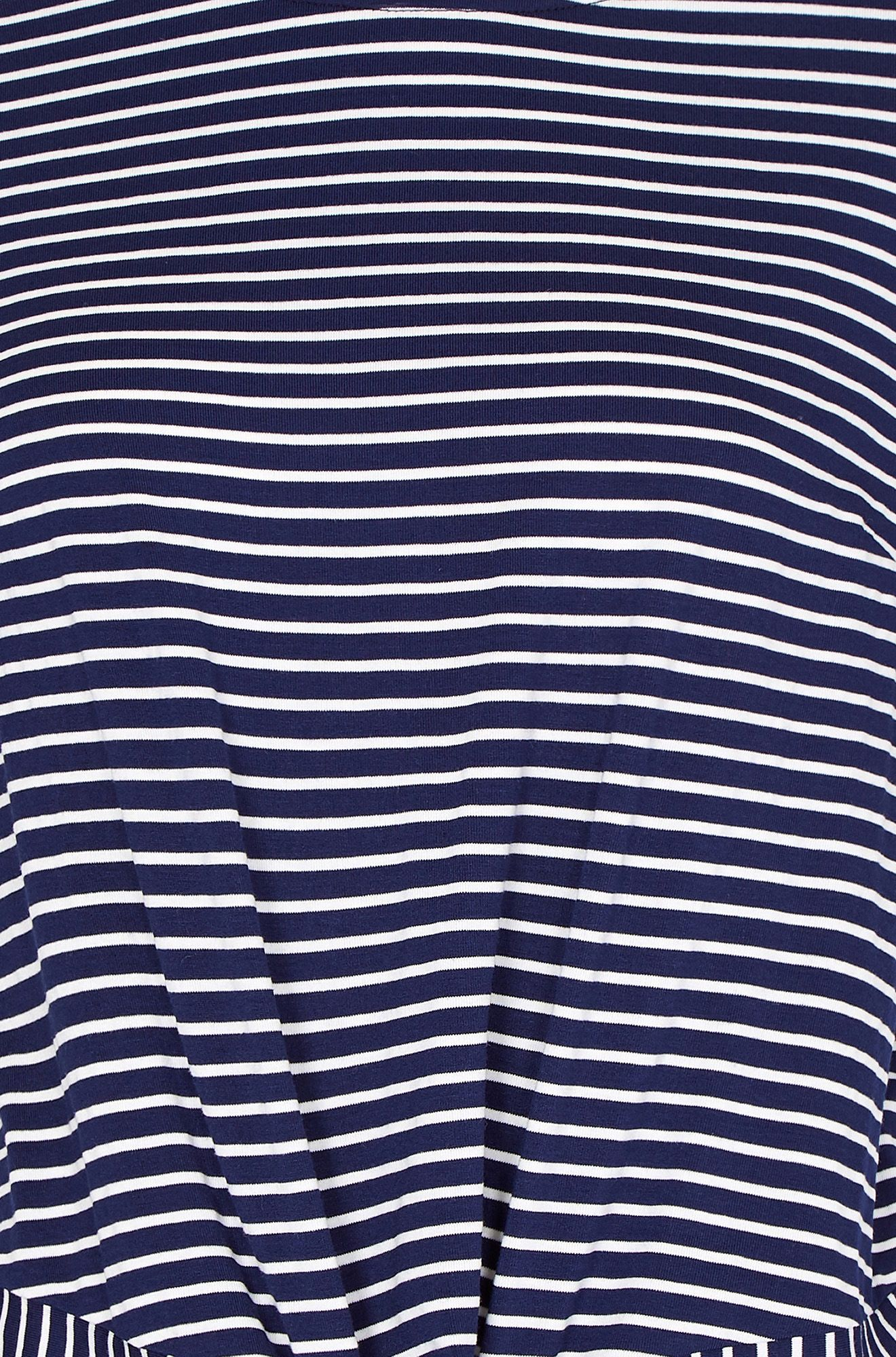 Stripe Jersey Top With Knot Detail