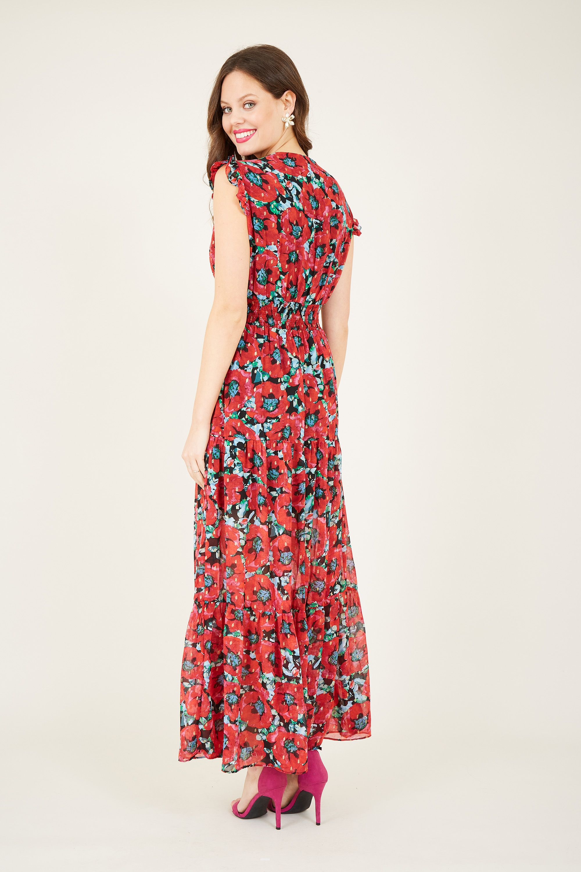 Poppy print maxi dress