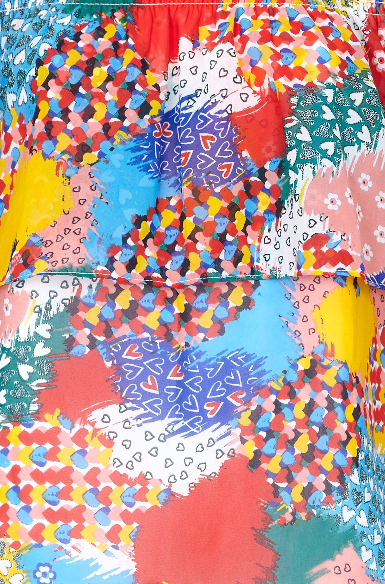 Heart Printed Bardot Top