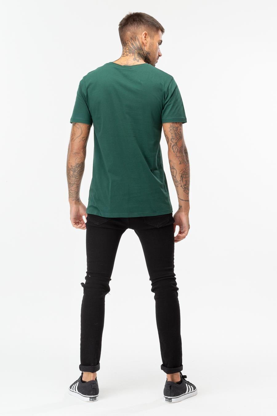 Hype Forest Burgundy Script Mens T-Shirt