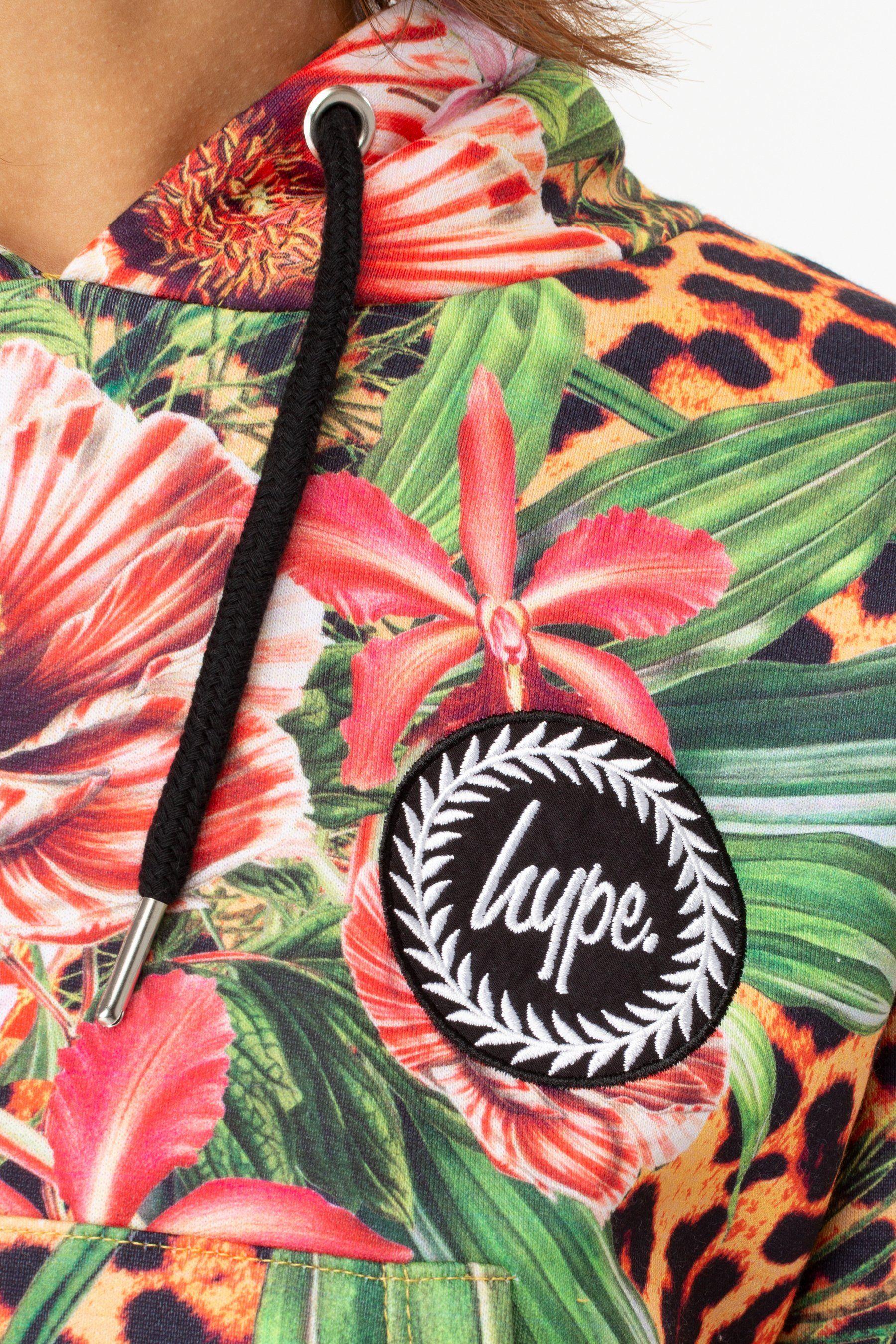 Hype Jungle 23 Womens Crop Pullover Hoodie
