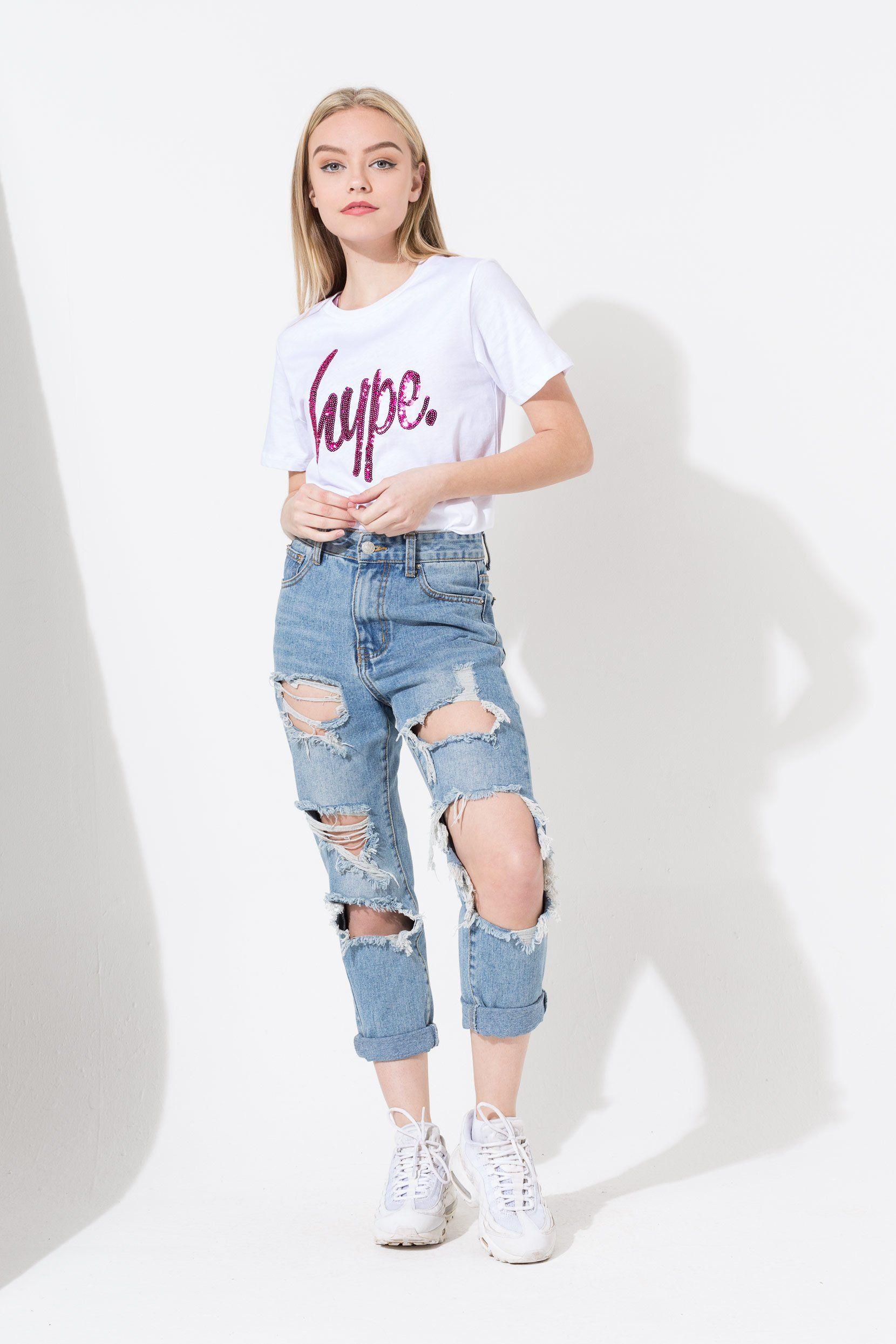 Hype Sequin Script Kids T-Shirt