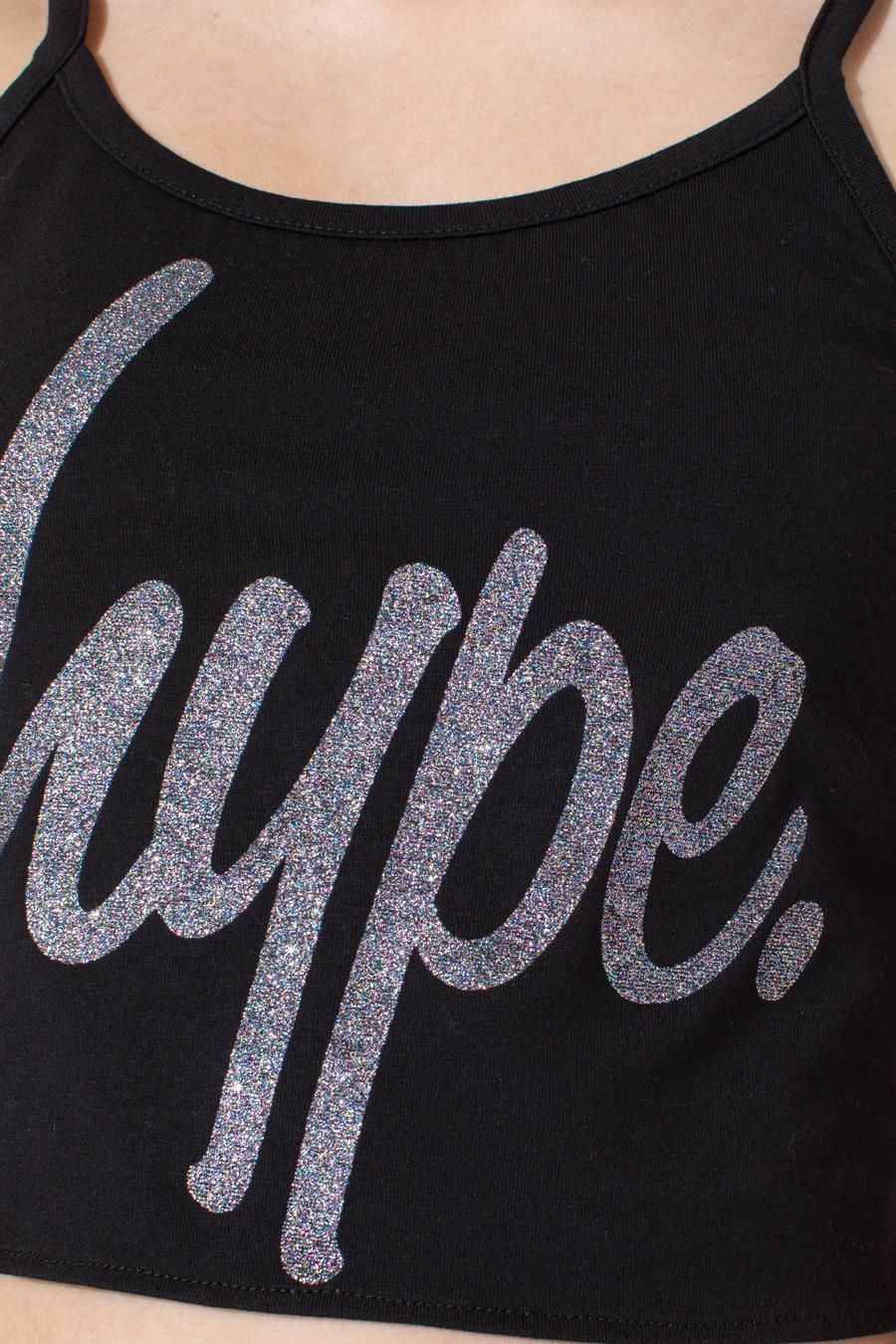 Hype Multi Glitter Script Kids Cami Top