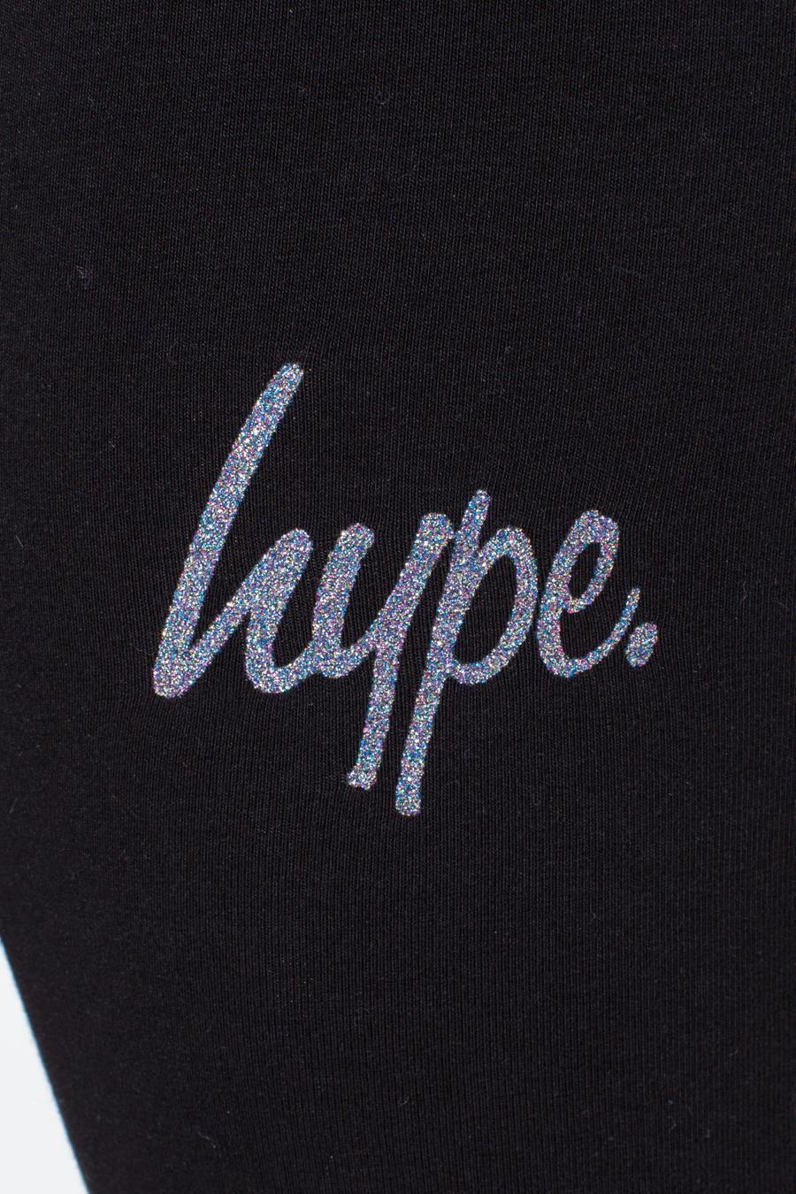 Hype Multi Glitter Script Kids Cycling Shorts