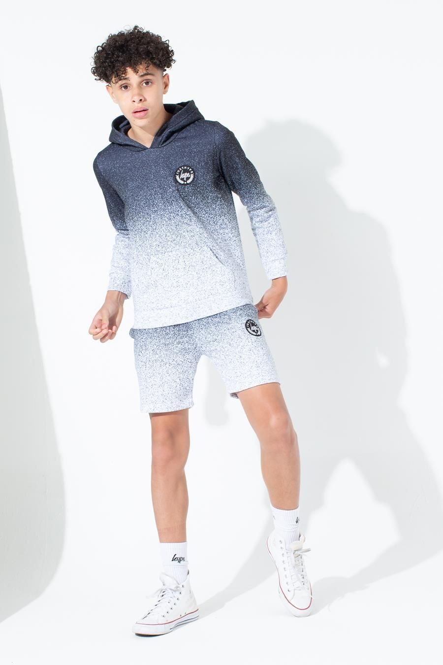 Hype Mono Speckle Fade Kids Pullover Hoodie