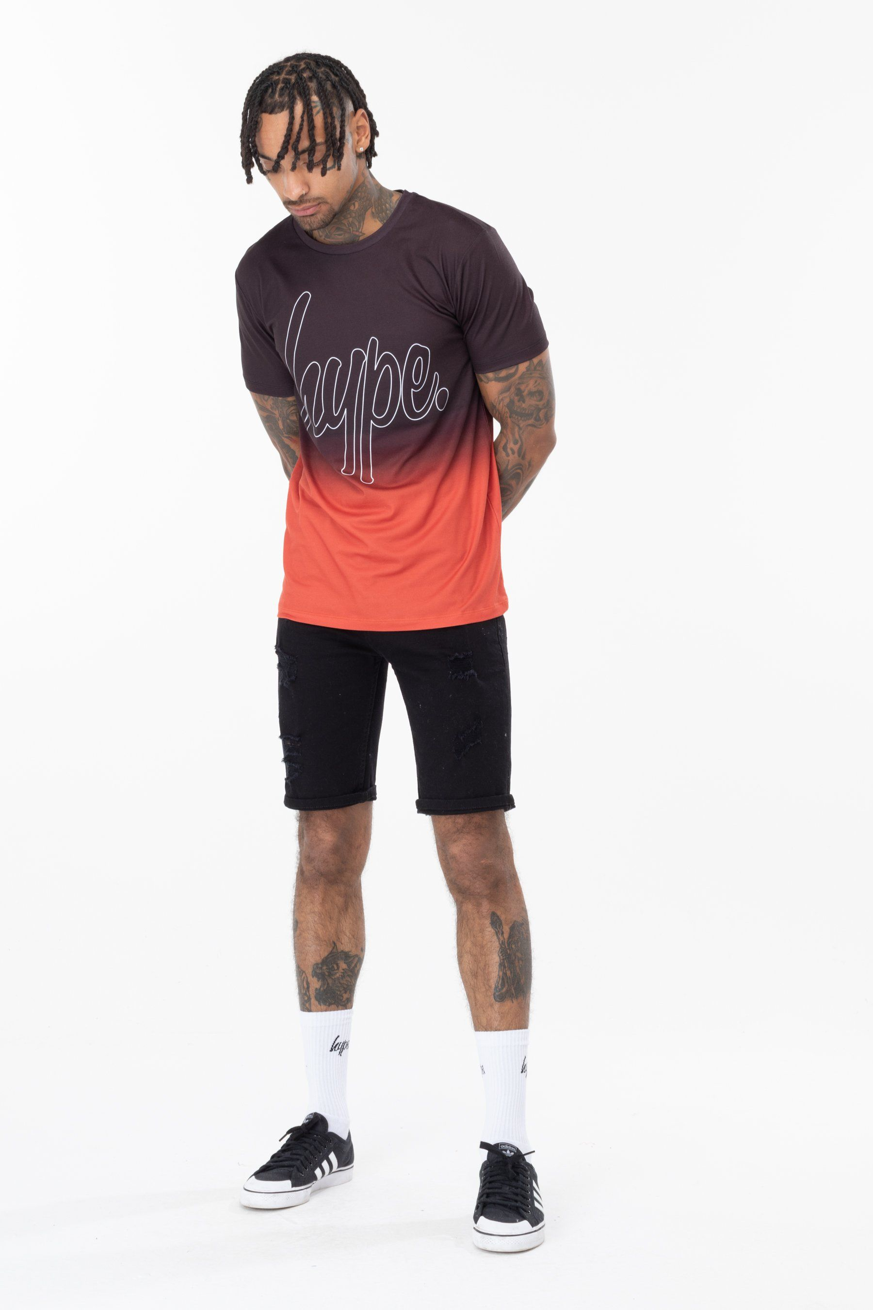 Hype Red Fade Mens T-Shirt Xs