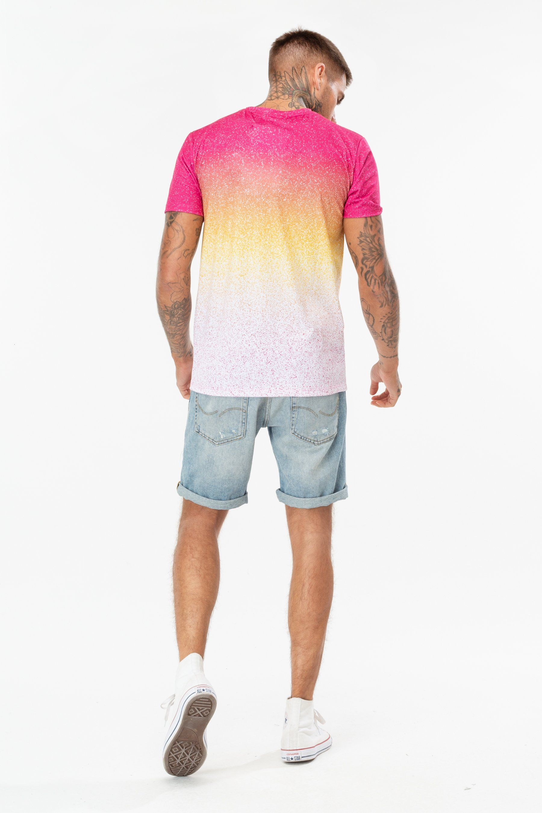 Hype Ibiza Speckle Fade Mens T-Shirt Xs