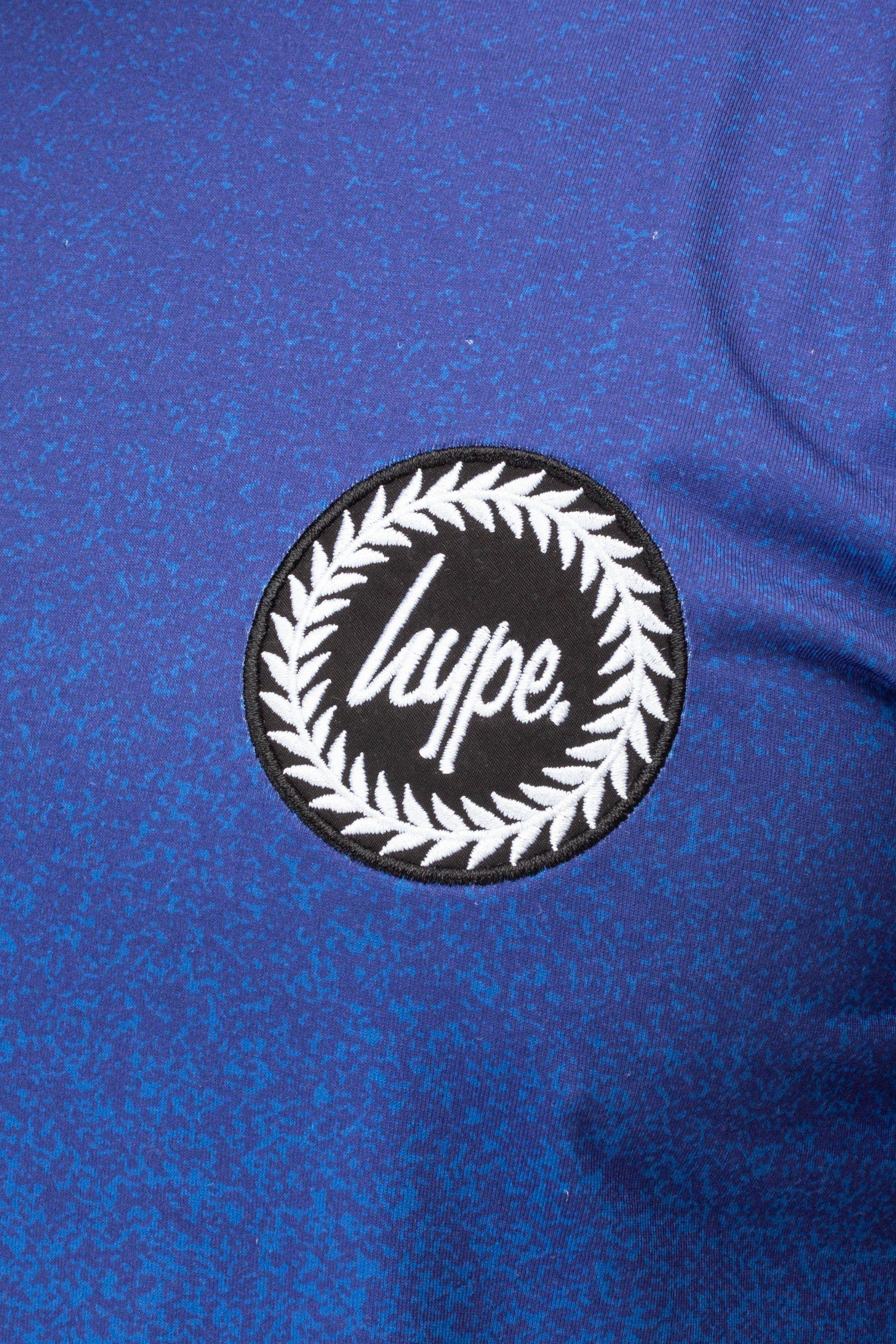 Hype Blue Speckle Fade Crest Mens T-Shirt