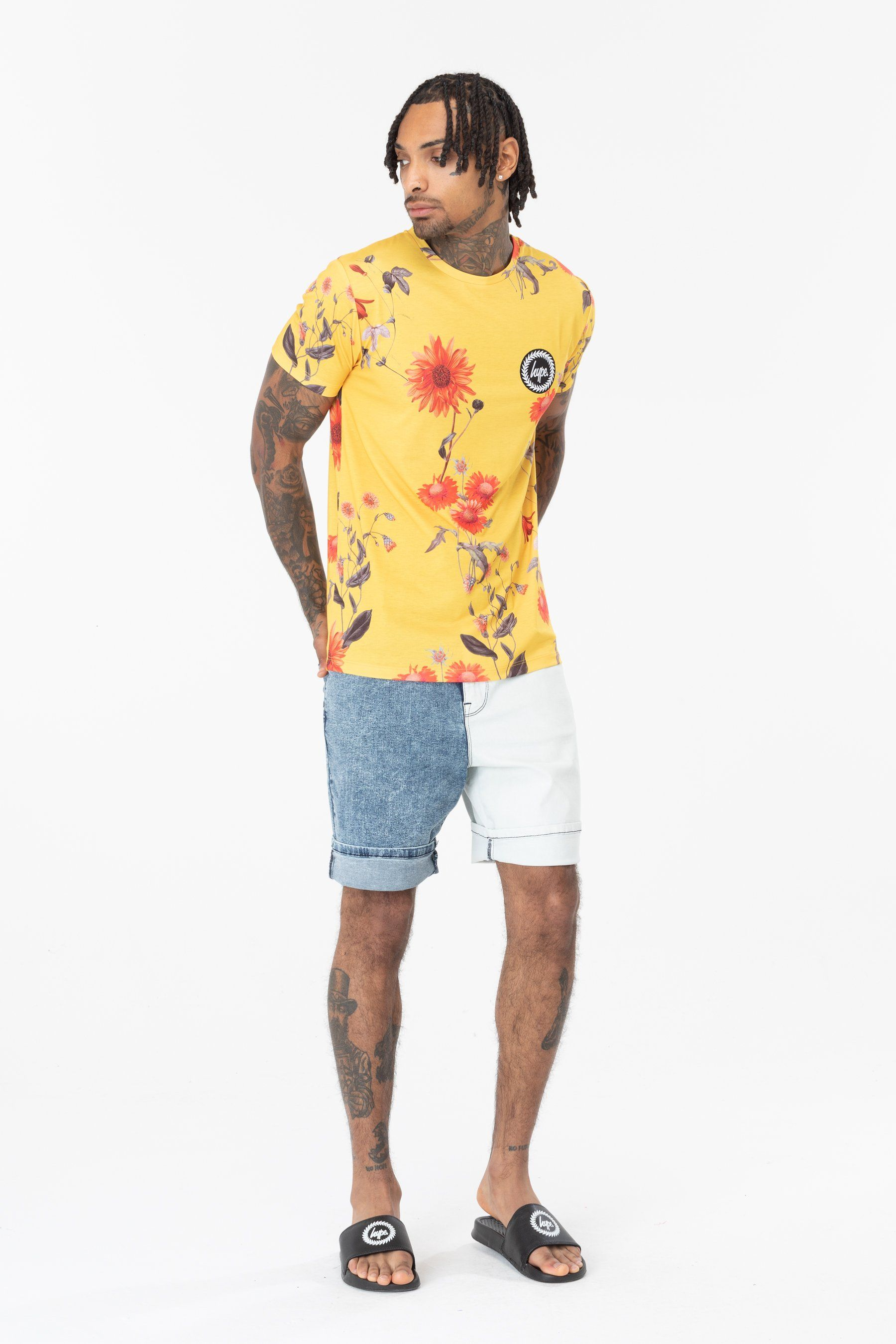 Hype Yellow Wood Mens T-Shirt