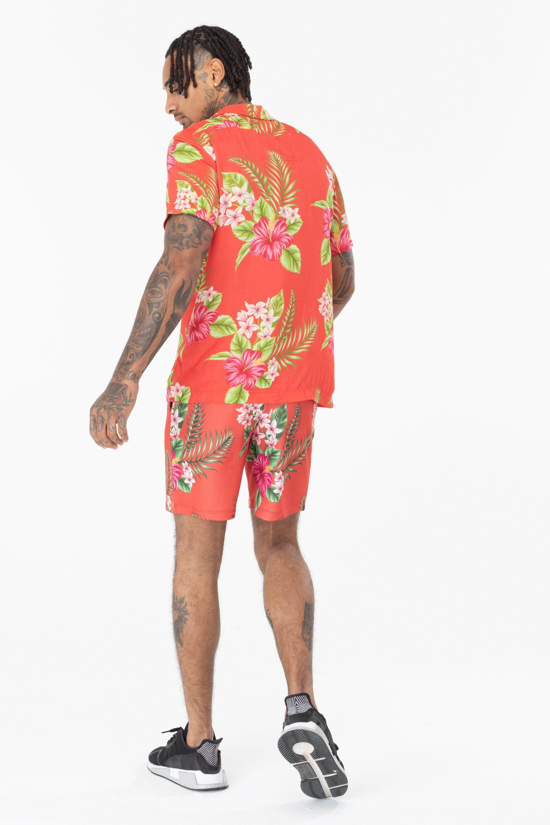 Hype Red Hawaii Mens Shirt