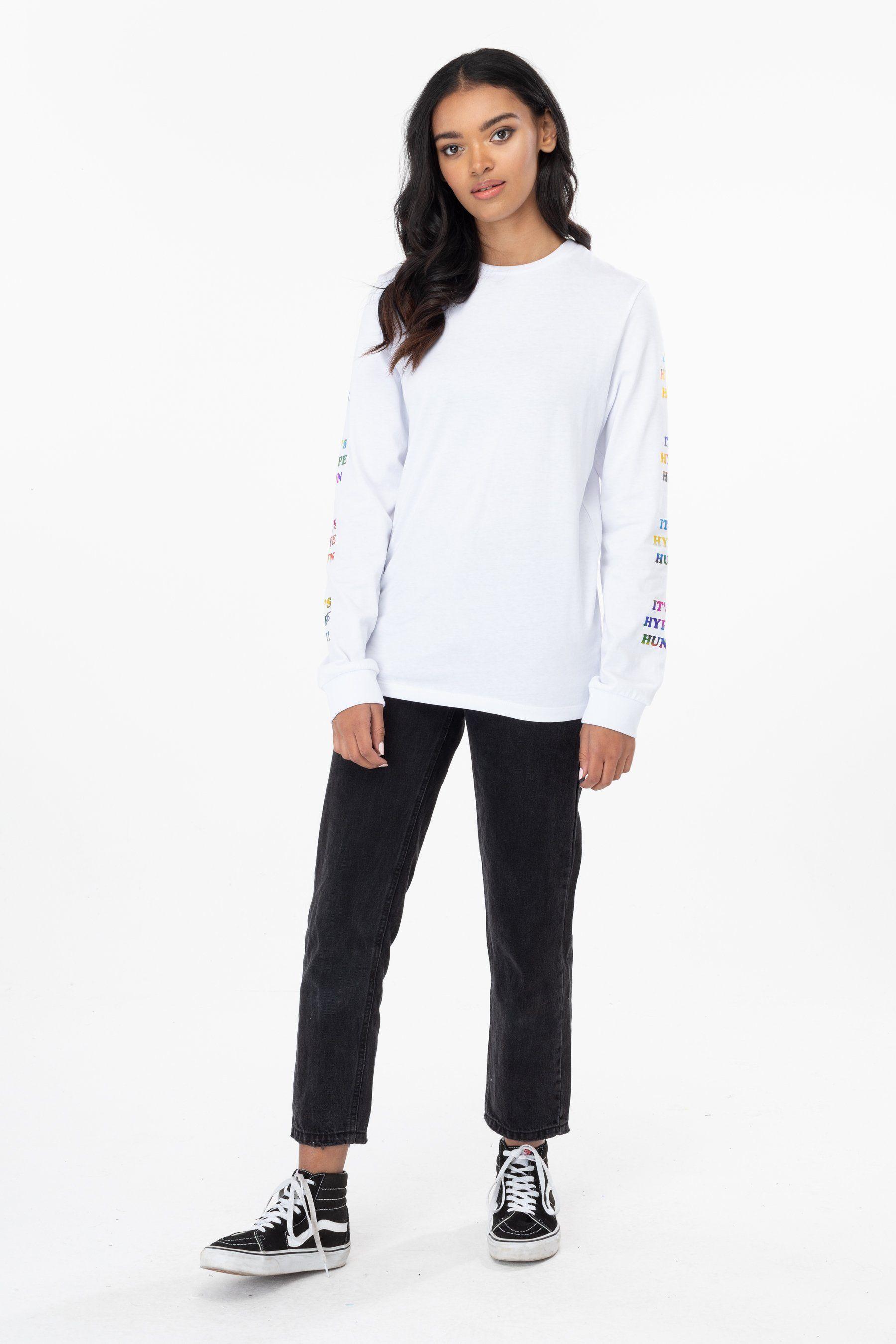 Hype White Hun Womens L/S T-Shirt