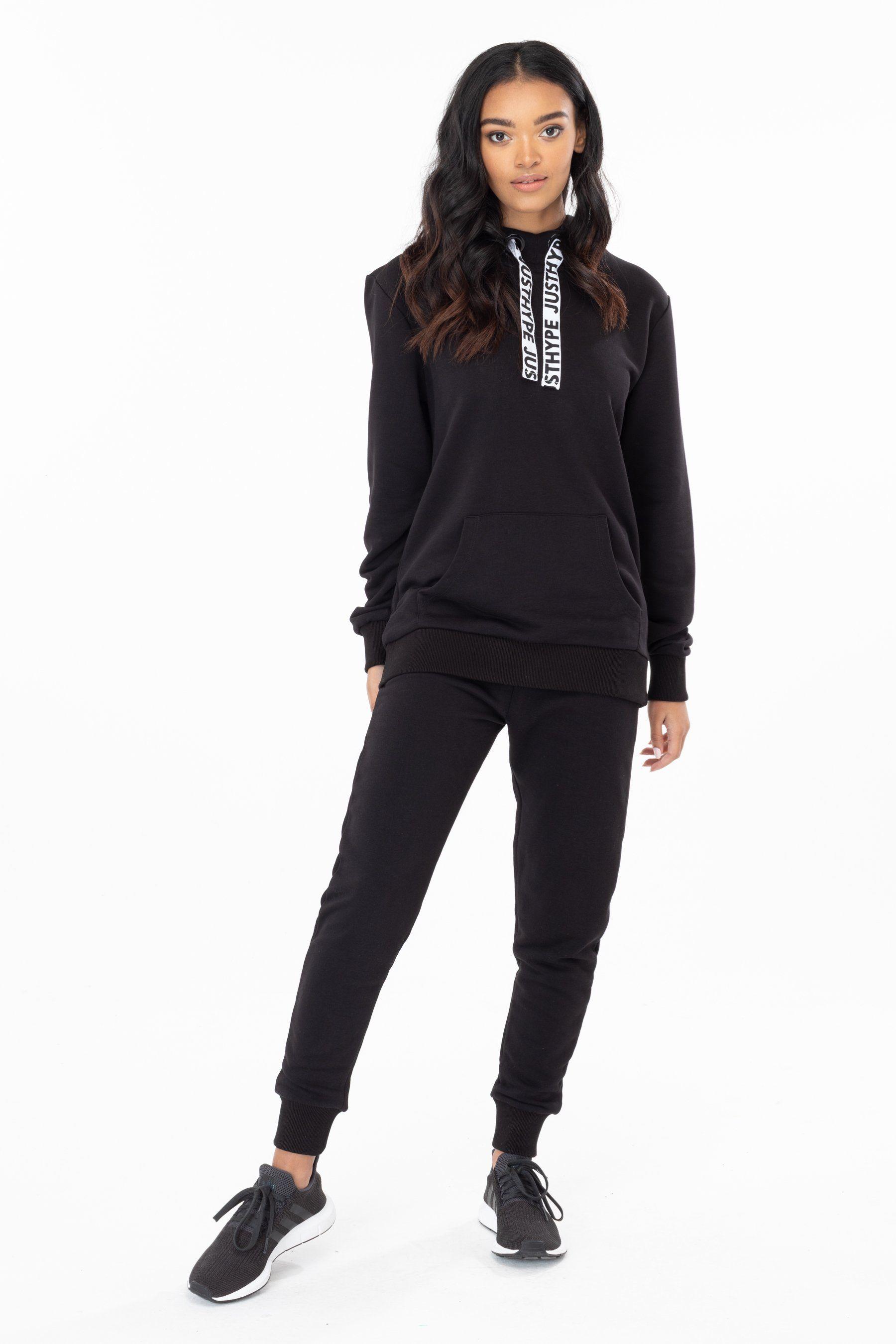Hype Black Drawstring Womens Pullover Hoodie 10