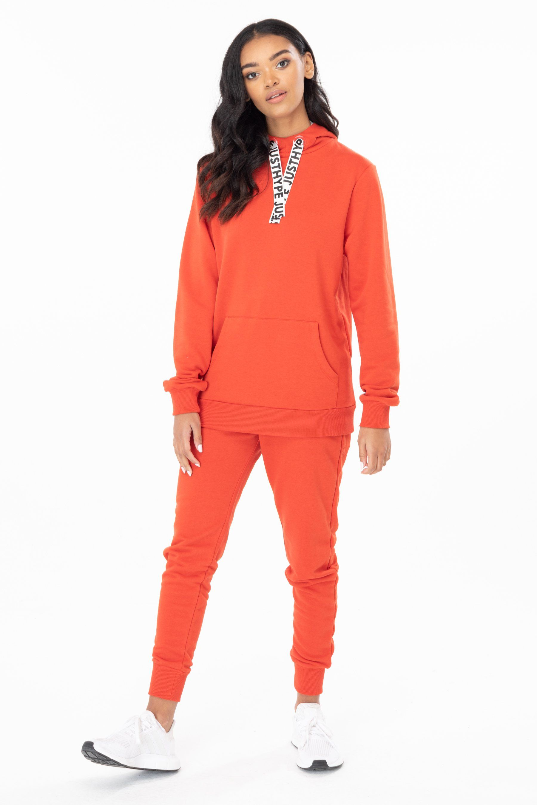 Hype Red Drawstring Womens Pullover Hoodie