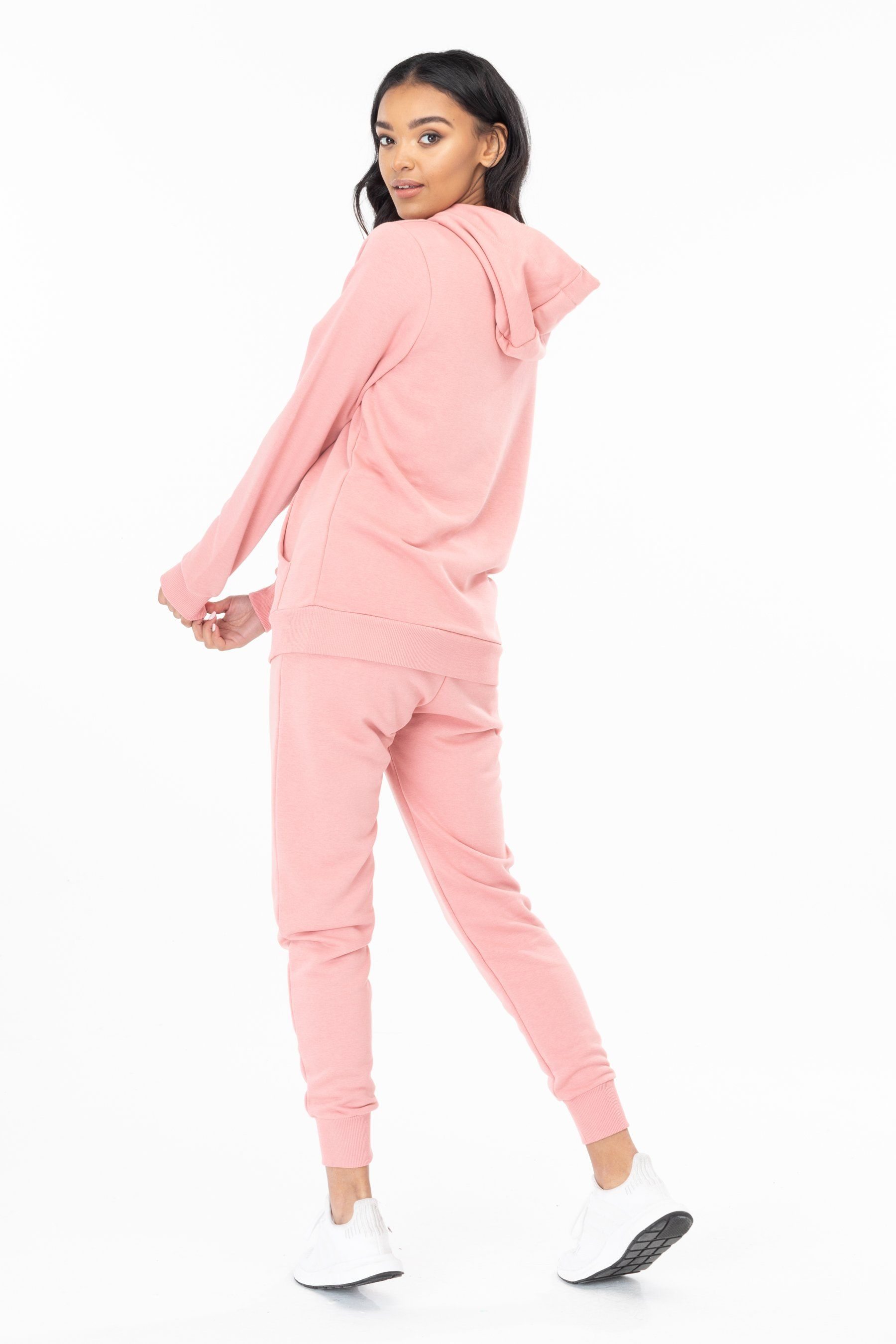 Hype Pink Drawstring Womens Pullover Hoodie 10
