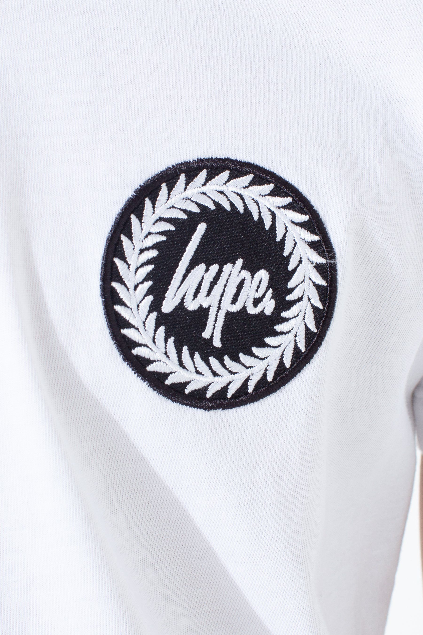 Hype White Jh Race Tape Kids T-Shirt