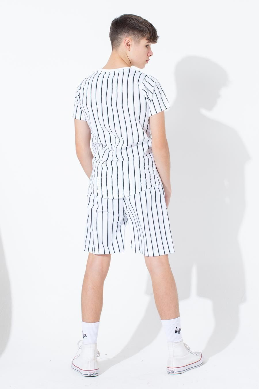 HYPE OLIVE STRIPE KIDS SWIM SHORTS