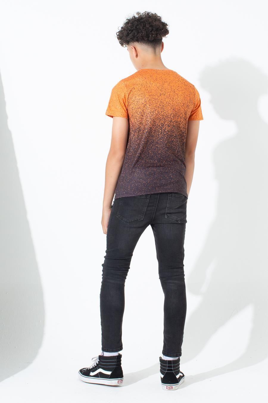 Hype Orange Speckle Fade Kids T-Shirt 13Y