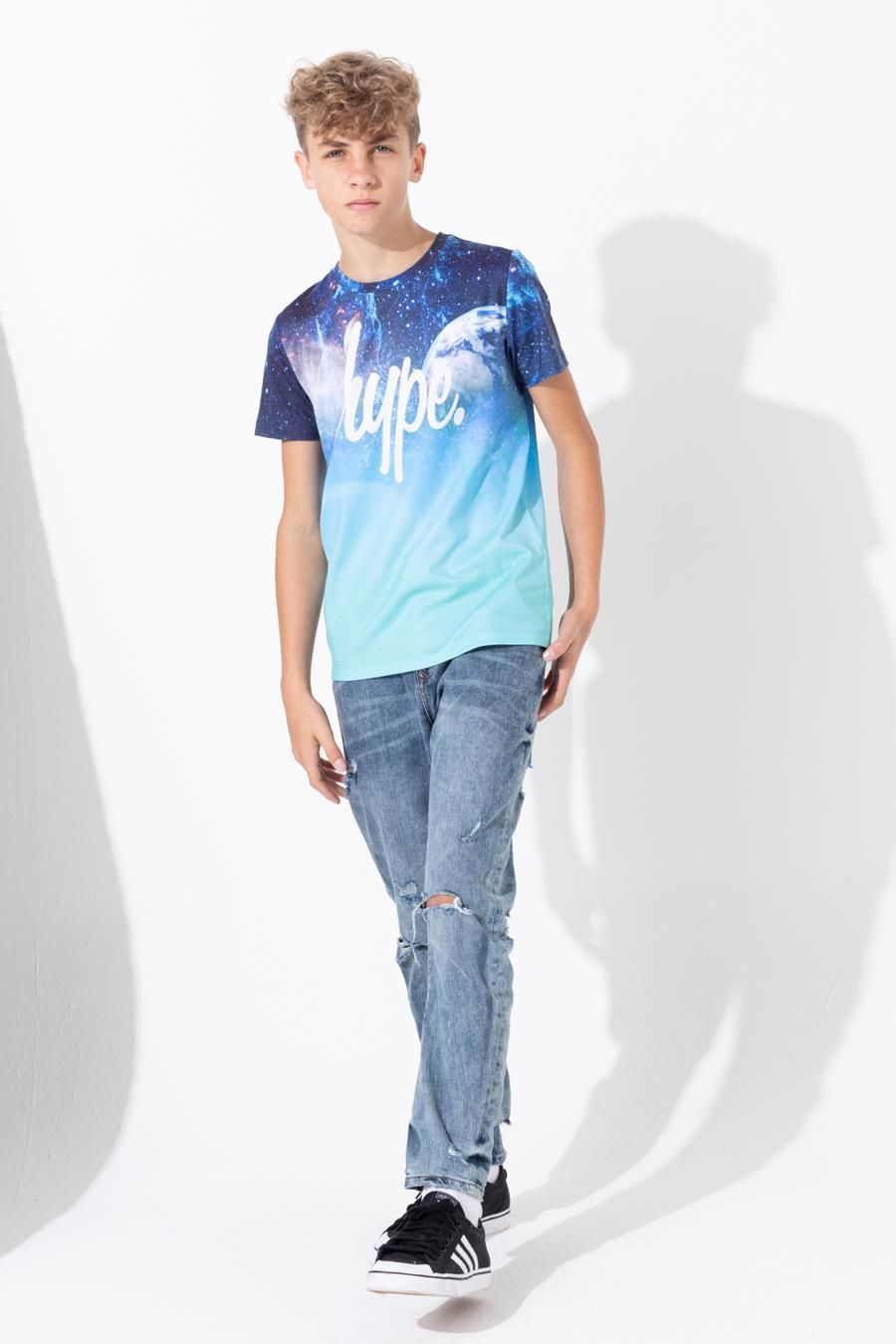 Hype Space Fade Kids T-Shirt 9-10Y