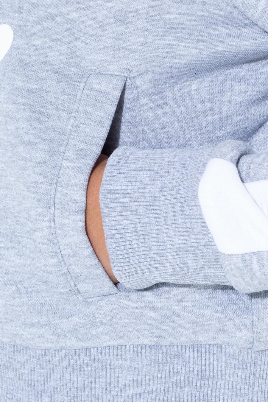 Hype Grey Side Stripe Kids Crop Pullover Hoodie