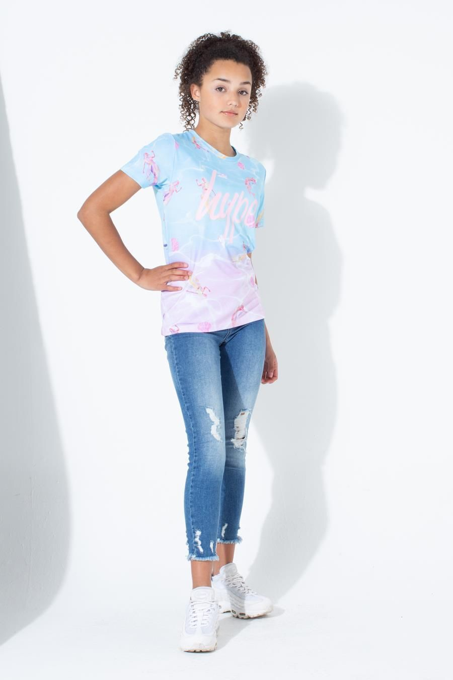 Hype Mermaid Shell Kids T-Shirt 13Y