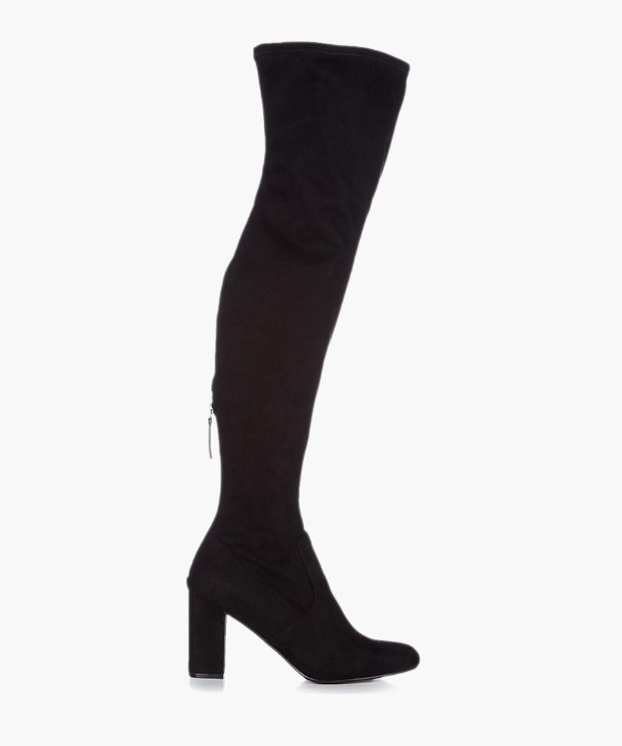 Black fabric boots