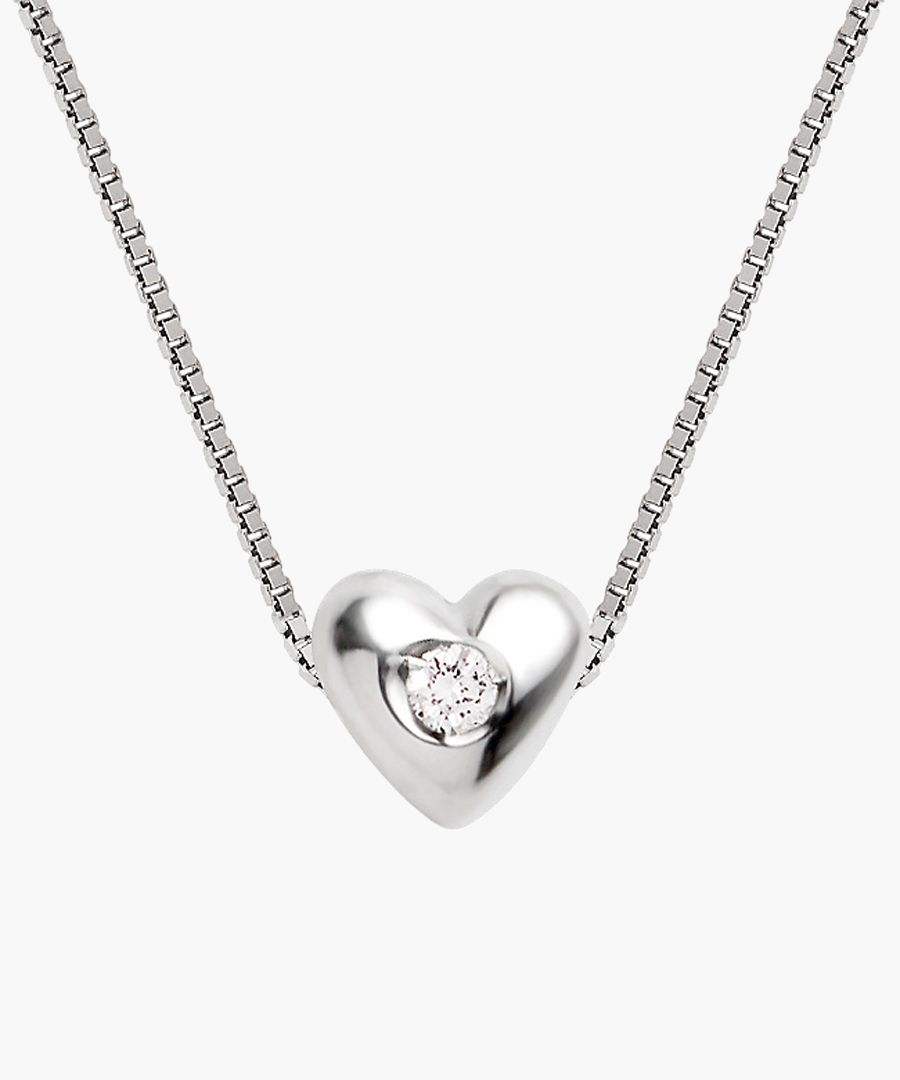 0.03ct diamond sterling silver necklace