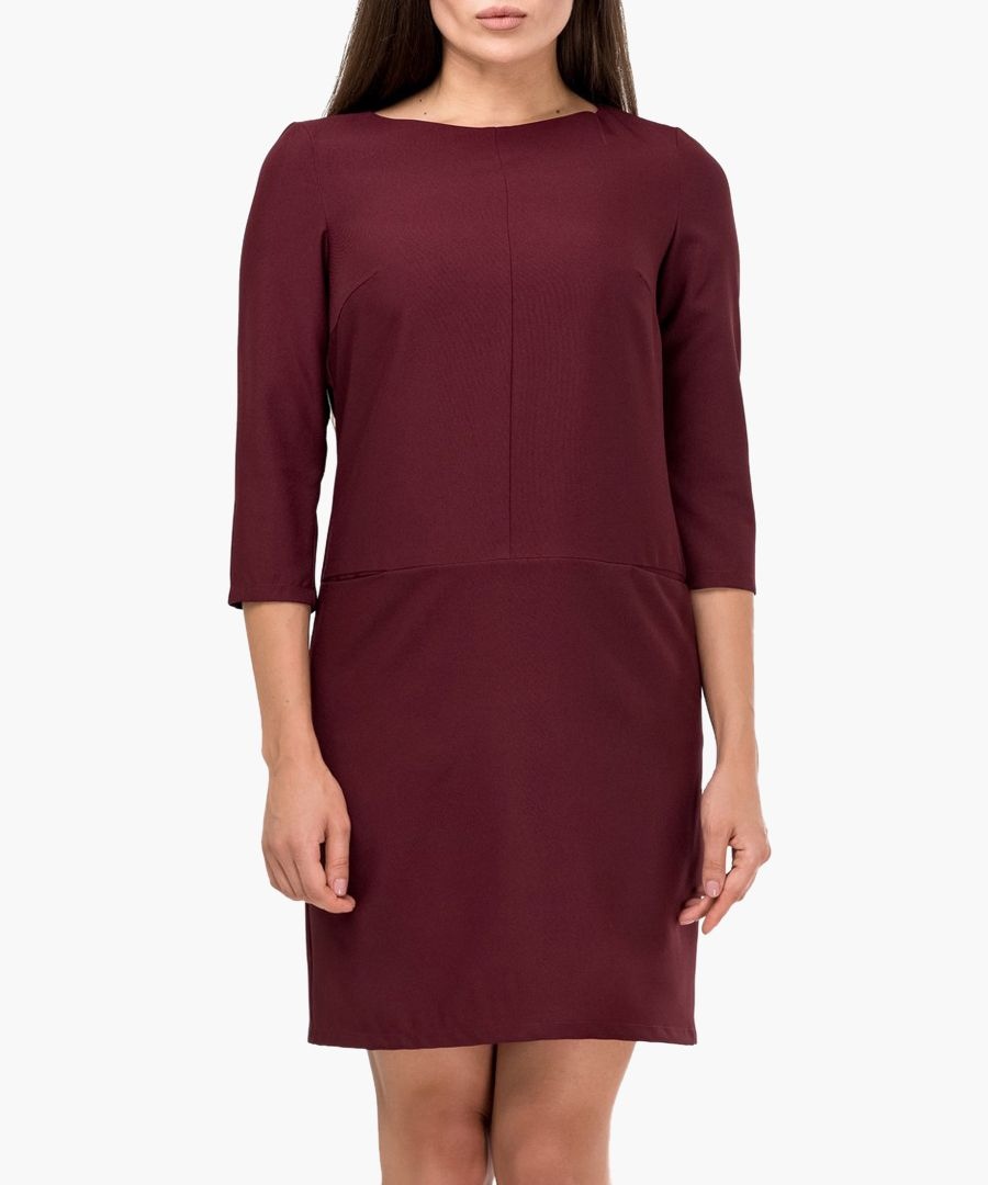 Bordeaux red mid-length dress