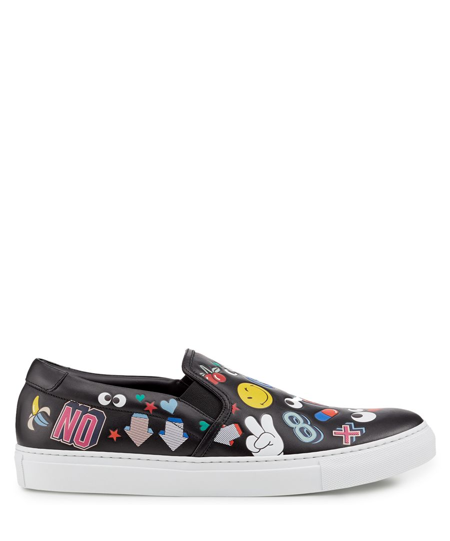 All Over Wink Black nappa sneakers