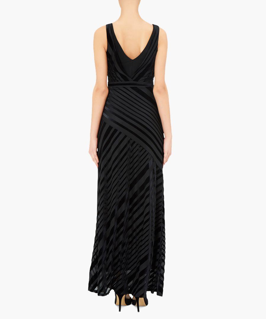 Helena black V-neck maxi dress