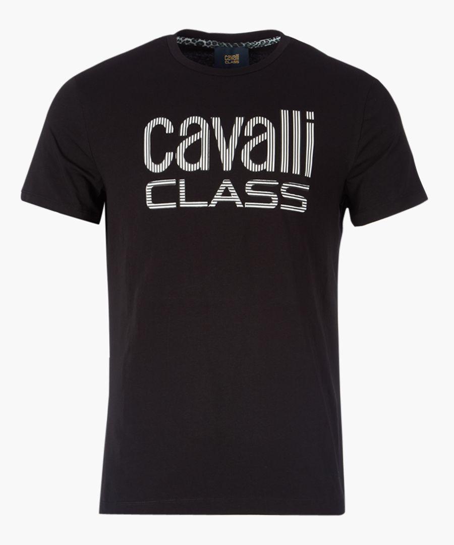 Black logo printed T-shirt