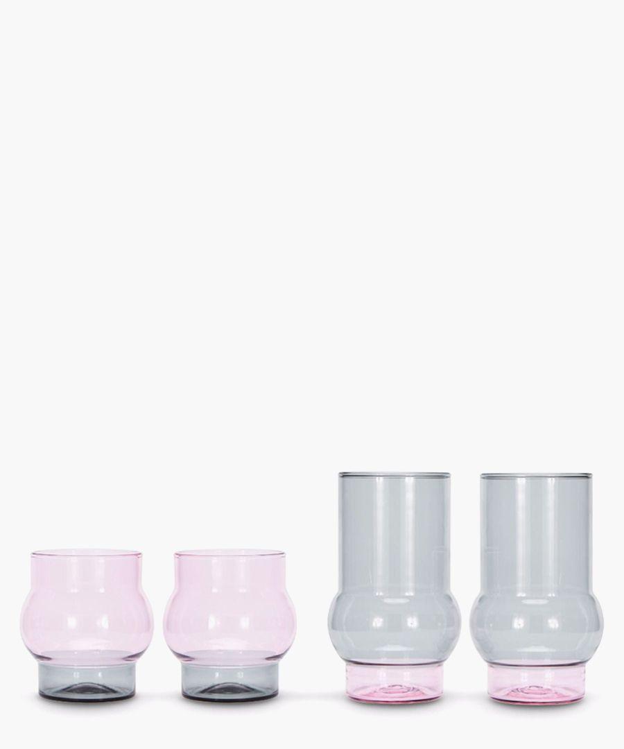 2pc Bump short glass set