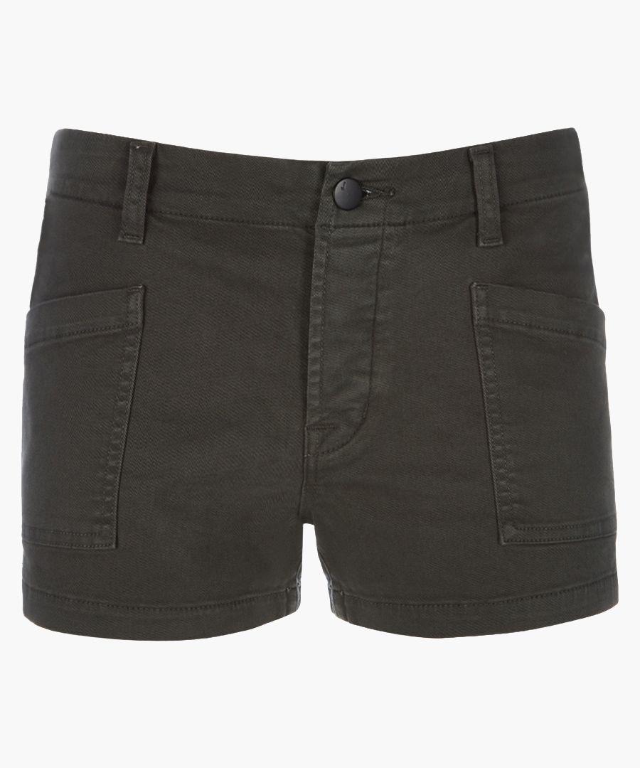 Brona granite mid-rise cargo shorts