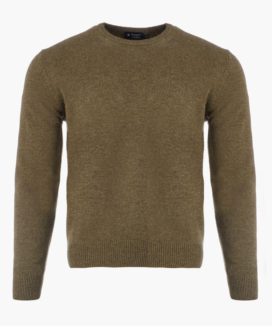 Khaki knit long sleeved jumper