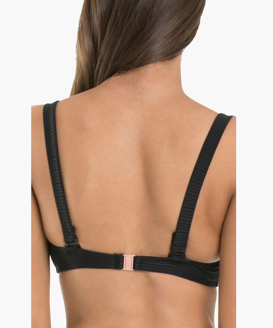 Black D-DD underwire bikini top