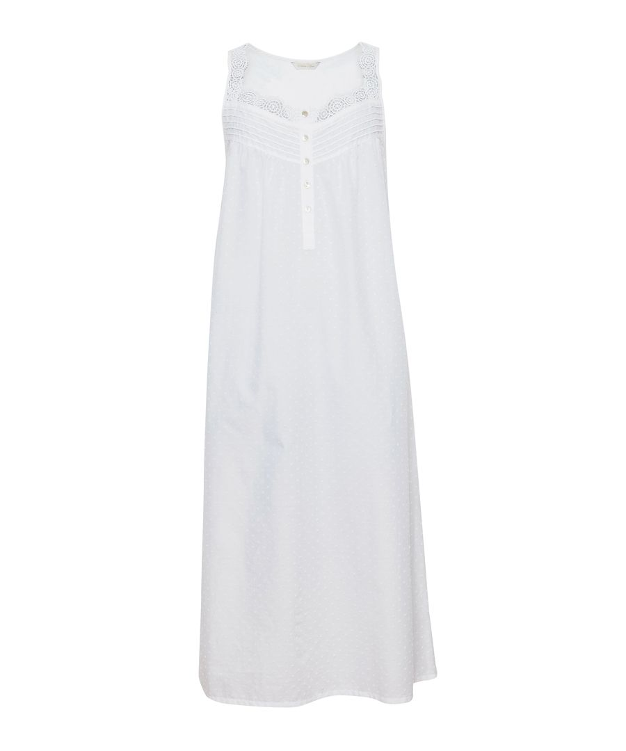 Pearl white pure cotton nightdress