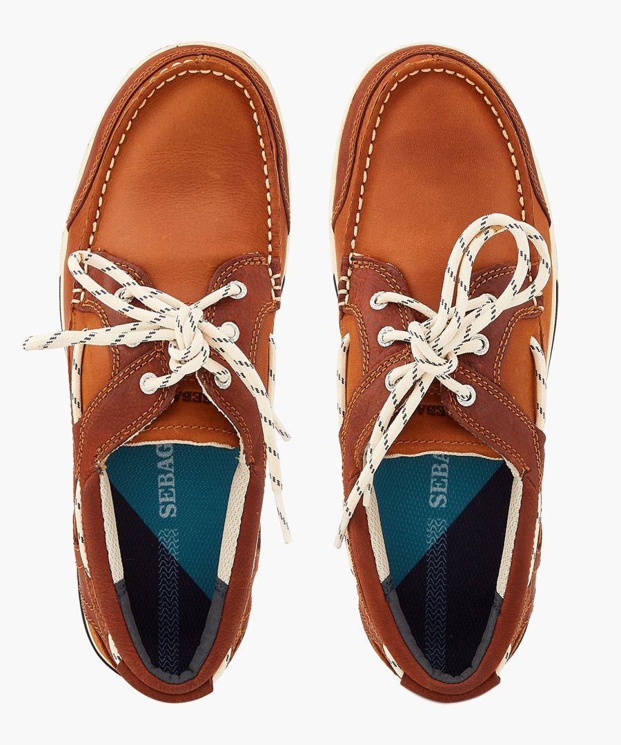 Triton brown cognac boat shoes