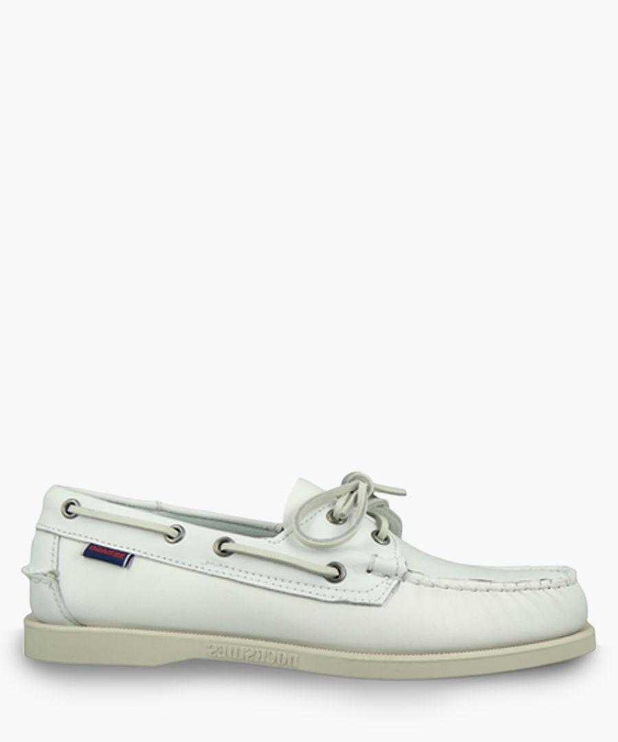 Docksides Portland white boat shoes