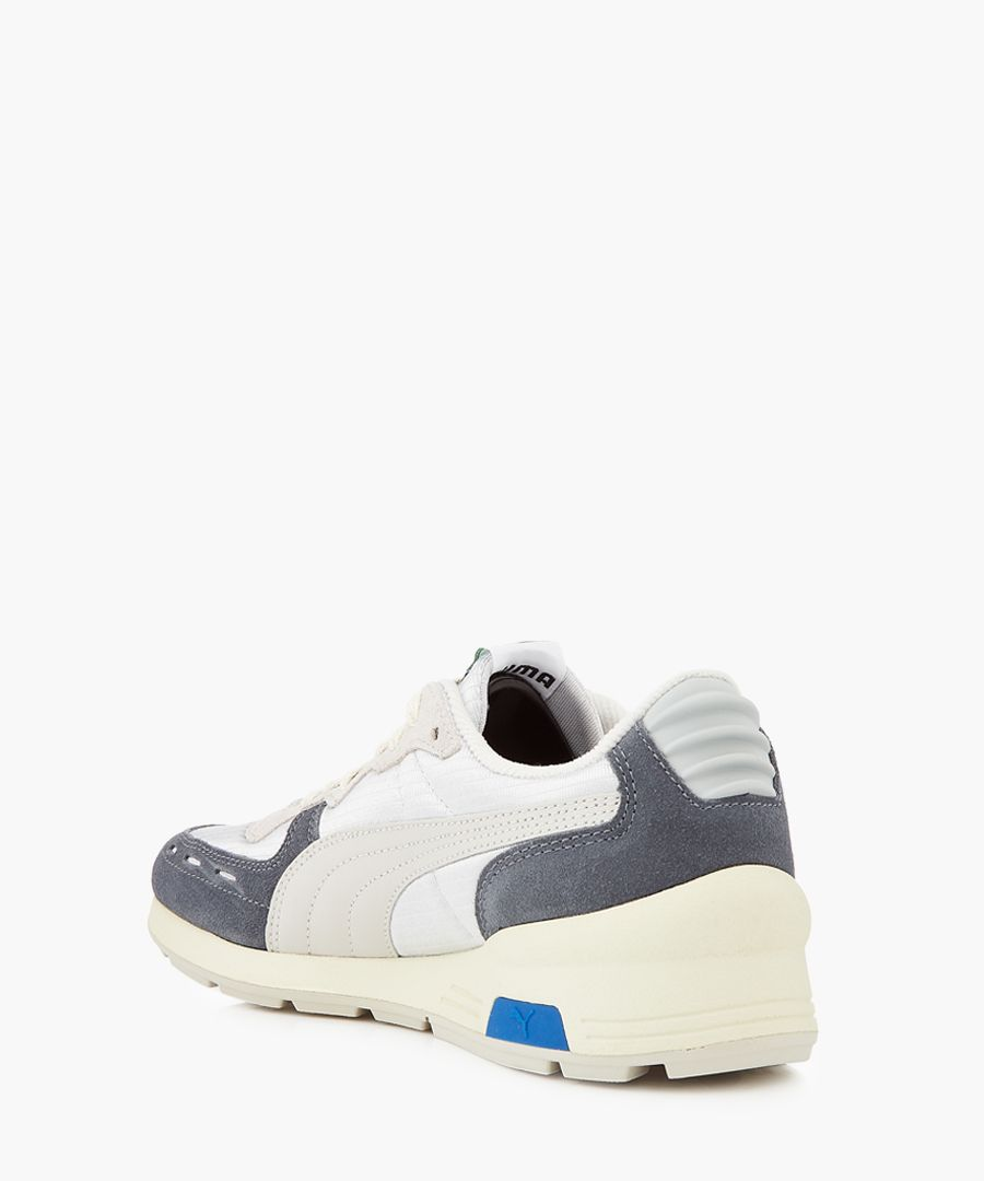 Rs-350 og suede and nylon panel trainers