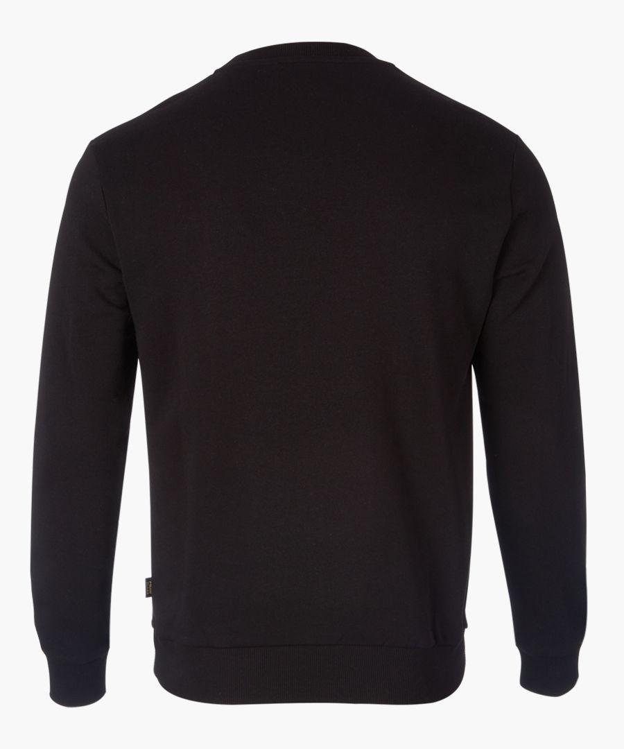 Black lion branded sweater