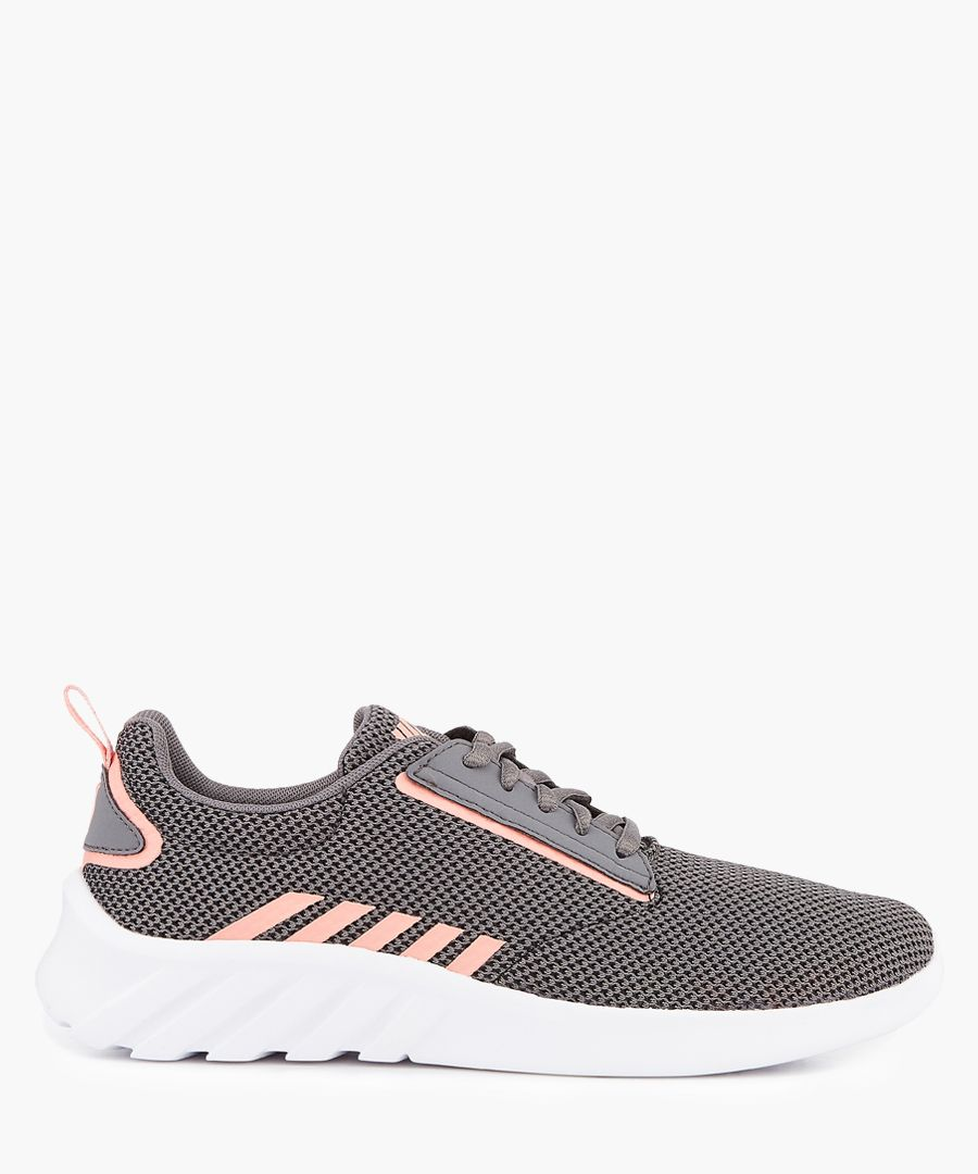 Charcoal and peach trainers