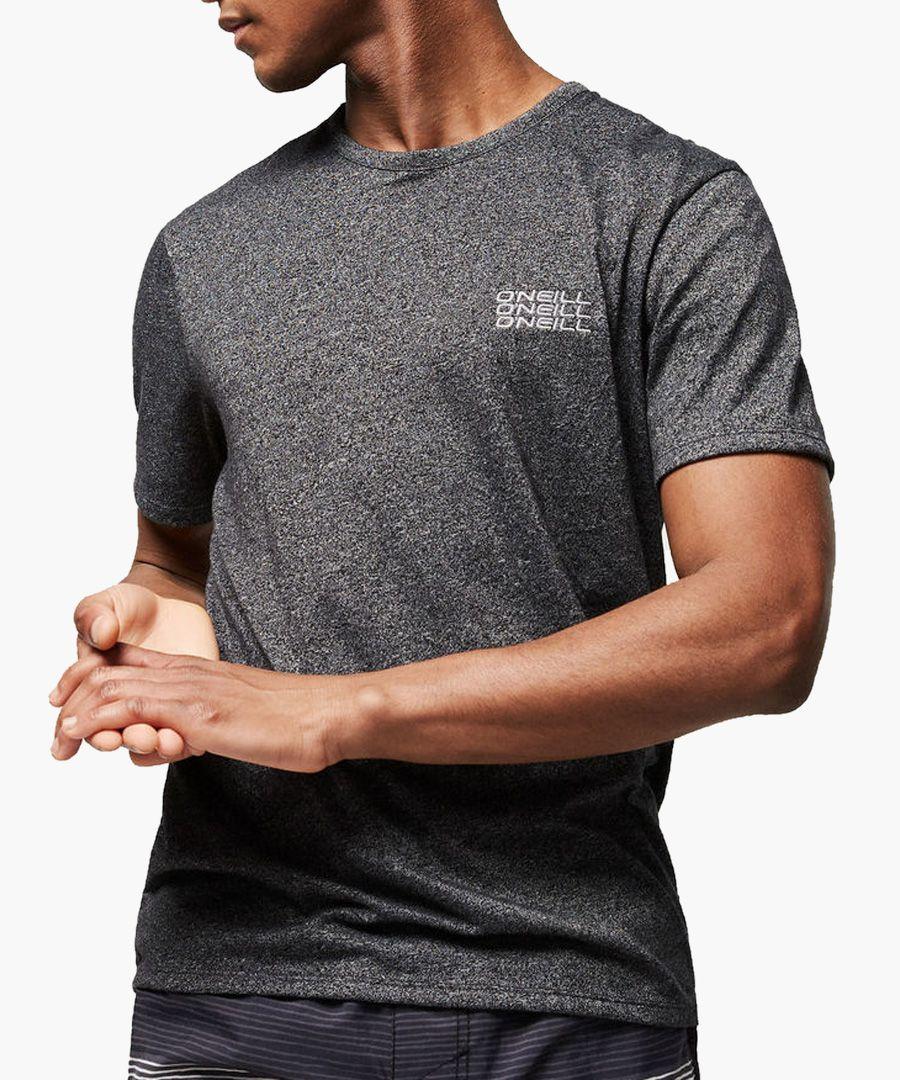 Black out cotton blend T-shirt