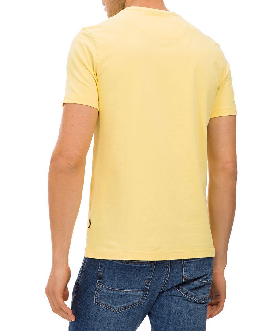 Yellow cotton blend logo T-shirt