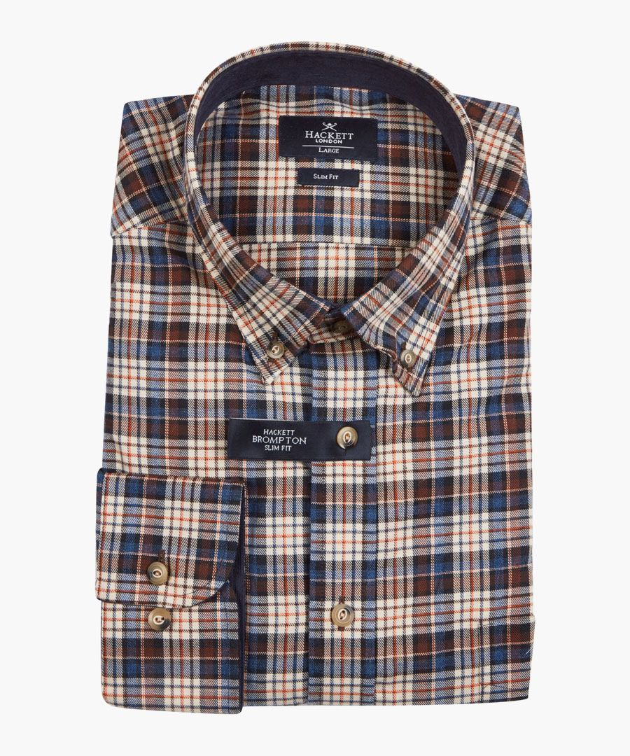 Woodlands brown plaid shirt