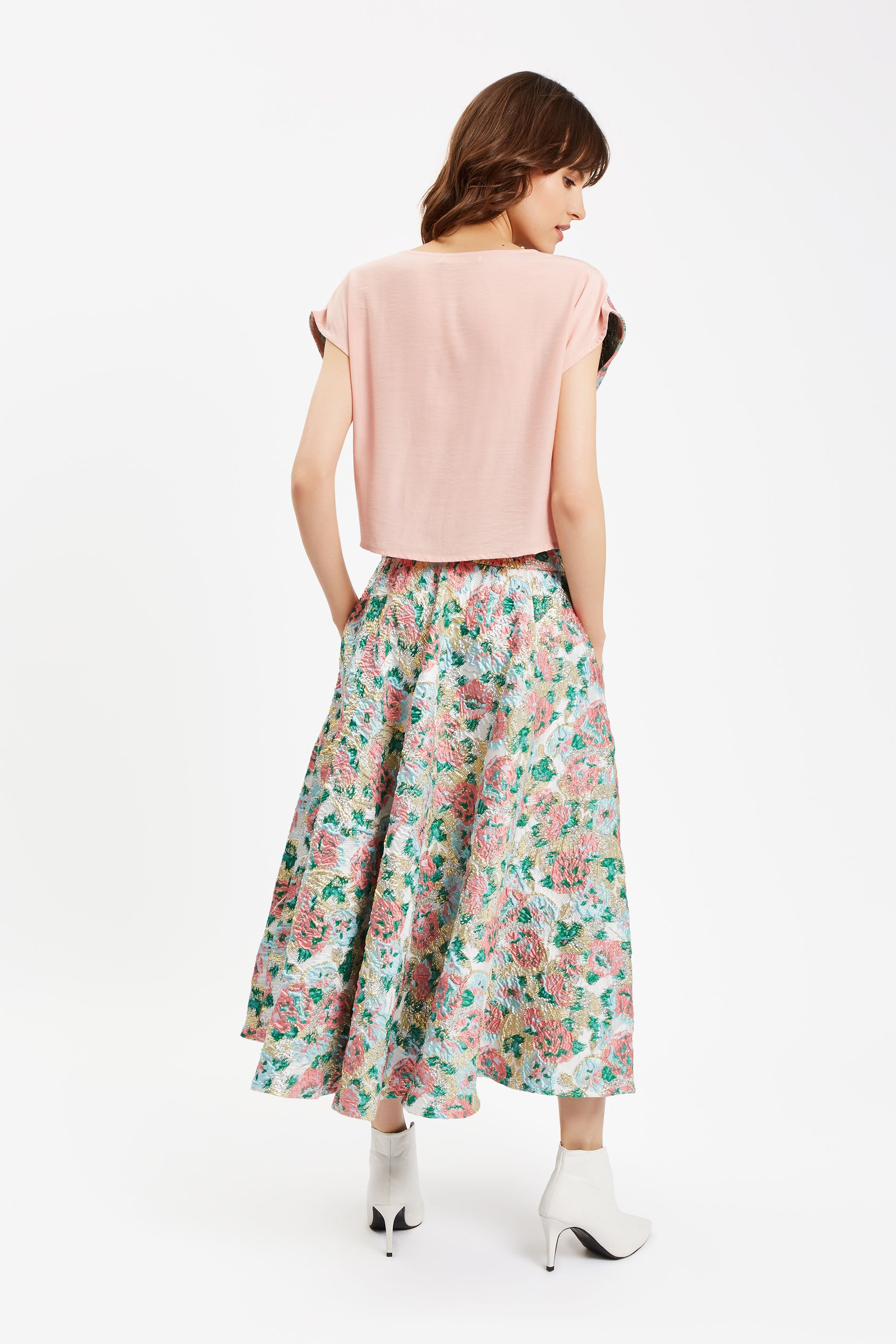 Ambitious Floral Top in Pink