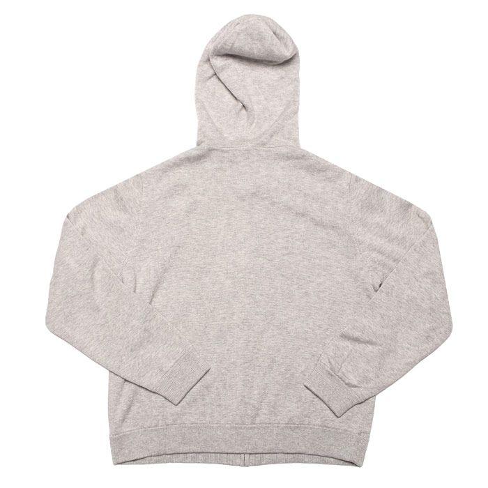 Boy's Lacoste Junior Reversible Cotton Hoody in Grey
