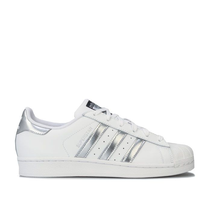 Women's adidas Originals Superstar Trainers in White silver