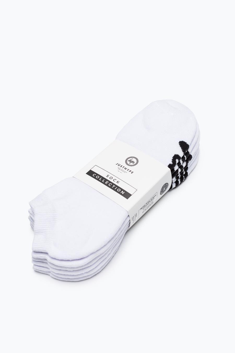 Hype White Script Ankle Socks X3 Pack