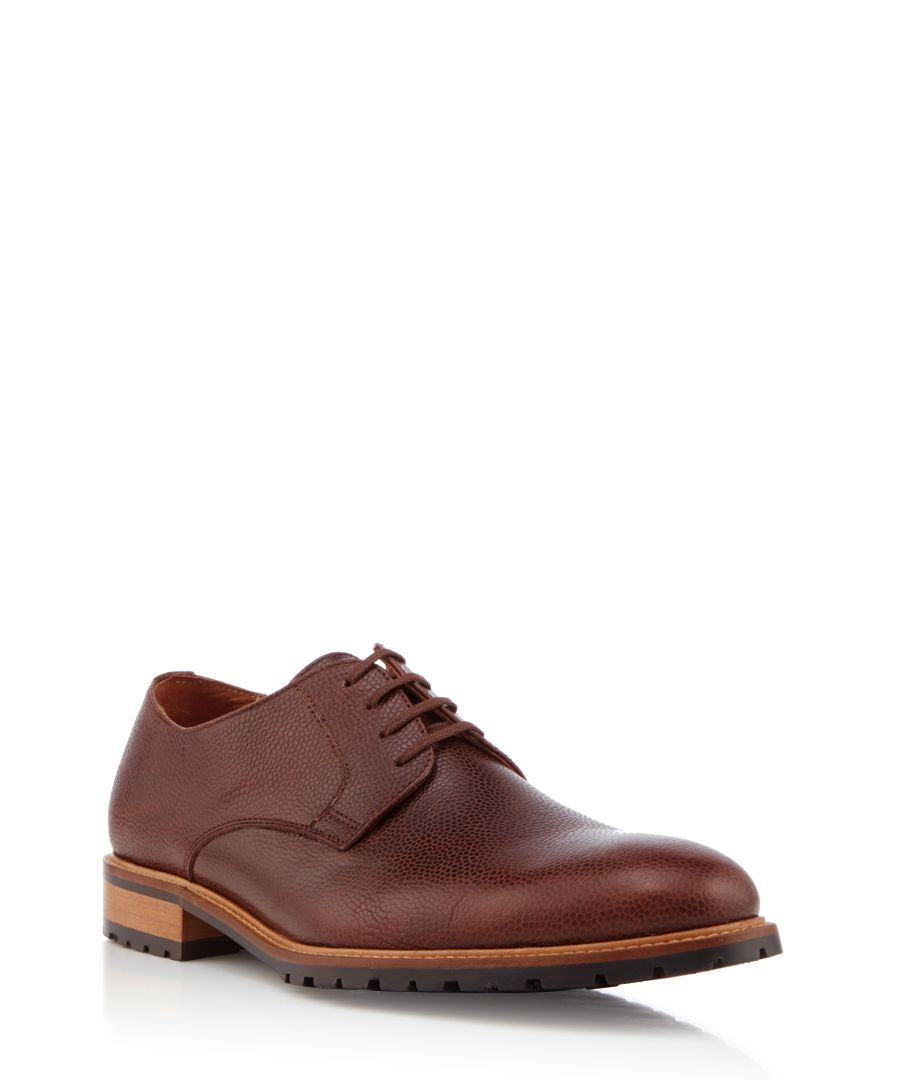 Conrad oxblood leather Derby shoes