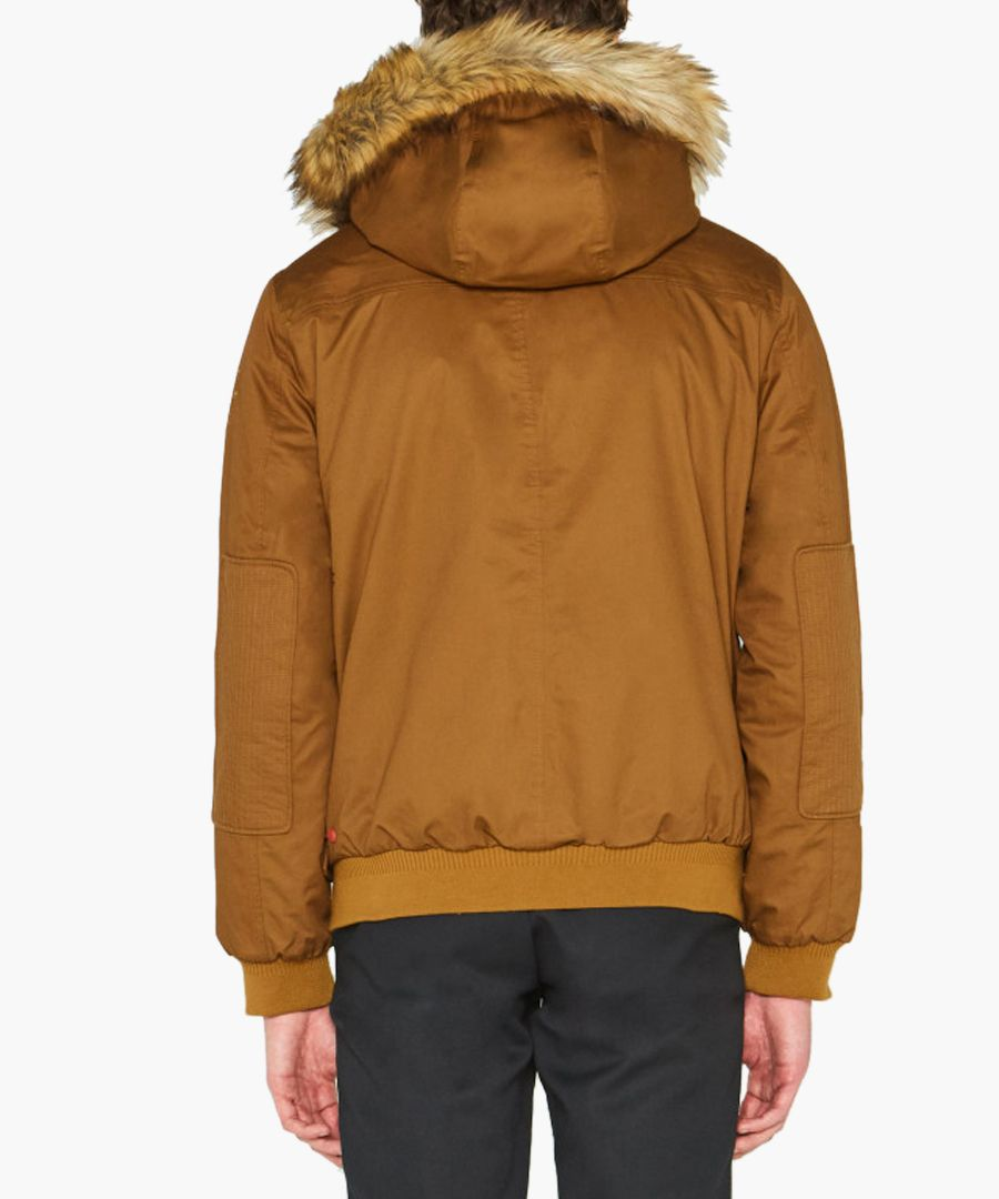 Camel pure cotton insulated parka